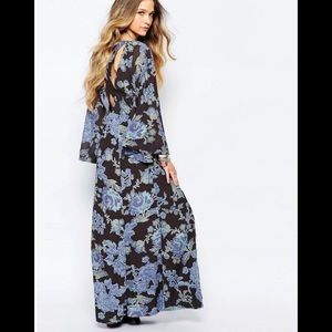 Black and blue free people maxi. Size 0, XS-S