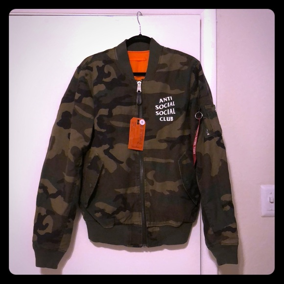 ecd9003badc2 💯Authentic Anti Social Social Club Camo Jacket