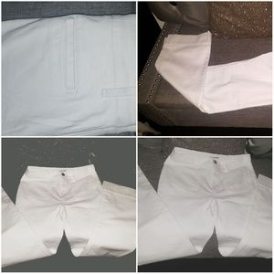 🛍3 fo loft white denim flare leg jeans size 0p-10