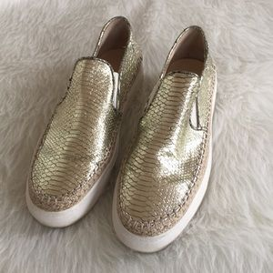 Gold Zara Shoes