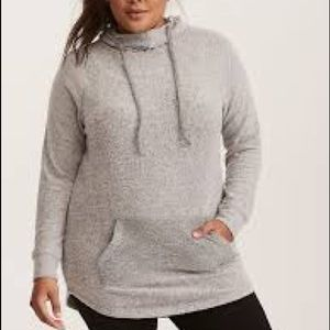 Brushed Hacci Knit Hoodie