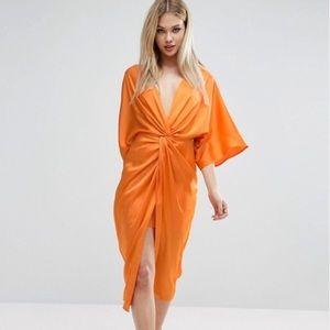 ASOS Burnt Orange kimono dress size small