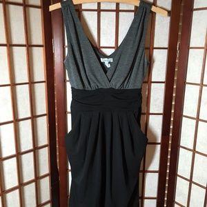 Gray & Black Dress