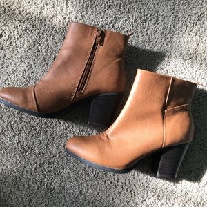 Chestnut ankle bootie