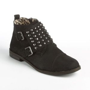 Lucky Brand Dosey Ankle Booties Black Suede