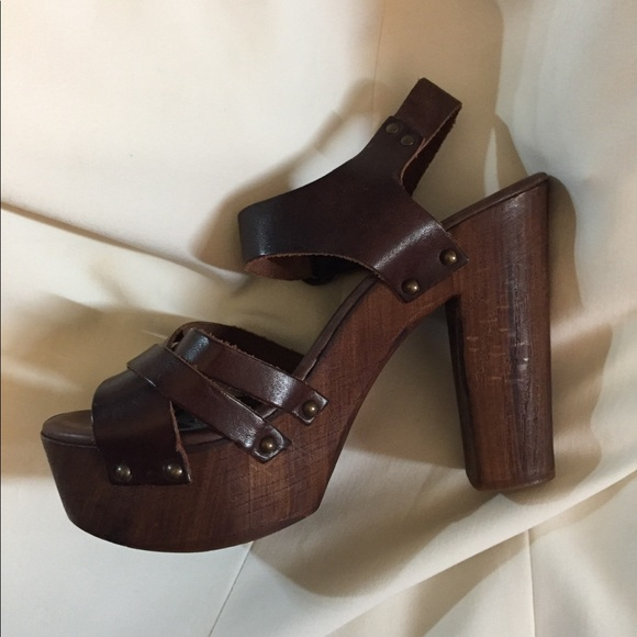 ff5ea2ebd70 Holiday Sale!! Steve Madden - Chunky Wooden Heels