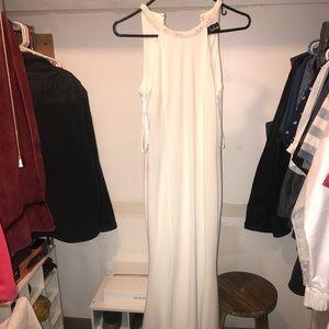 A white long dress