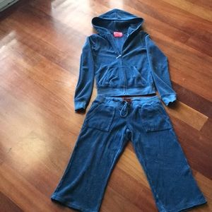 Juicy couture blue terry outfit