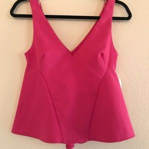 Zara Pink Peplum Top