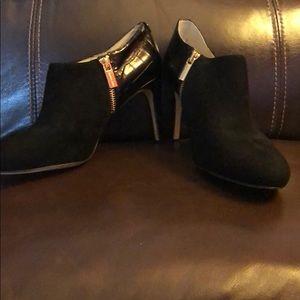 Michael Kors suede and croc embossed heels