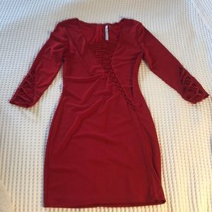 short red party dress