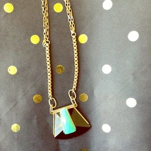 Banana Republic Long Turquoise Pendant Necklace