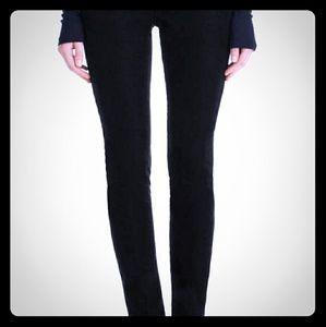 J Brand skinny leg corduroy black 27