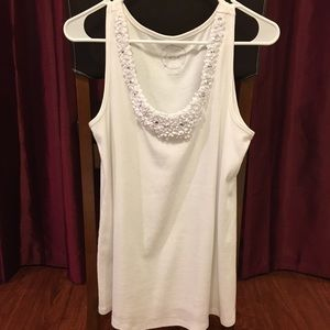 INC International Concepts Modal blend tank Sz OX