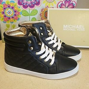 Michael Kors Hi-Top Sneakers girls sz 4/Women's 6