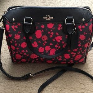 Coach Mini Prairie Calico Bennett Satchel Handbag