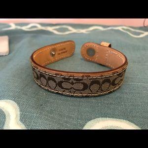 Coach emblem wrist bracelet