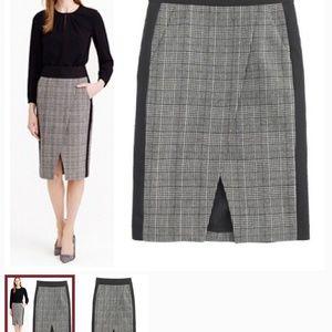 J - Crew Petite Glen Crossover Skirt sz 4