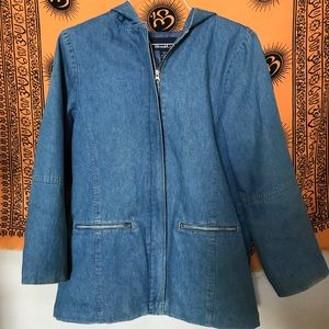 Vintage Denim & Co zip up jacket