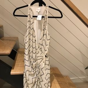 Parker NWT Beaded Wrap Racerback Dress