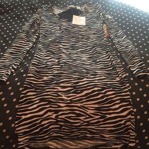 NWT Zebra Print Fitted Dress