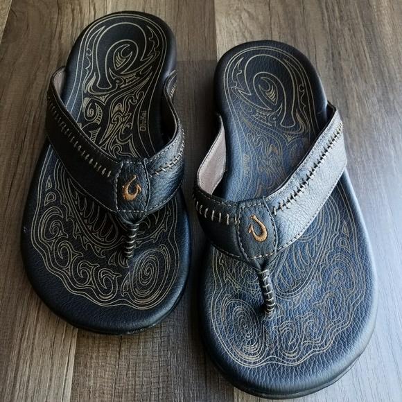 be620366b OluKai Hiapo Black Leather Sandals. M_5a2d7b3cd14d7b9dc3066c75