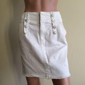 Ett Twa White Nautical Pencil Skirt