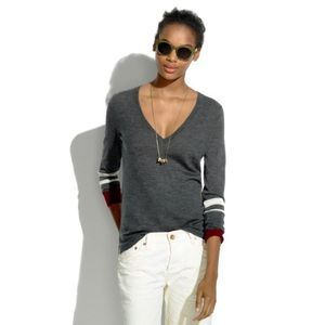 Madewell first draft sweater in varsity stripe
