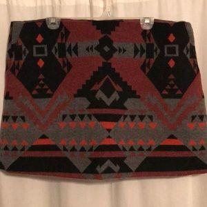 GAP— Wool Tribal Print Mini-Skirt—Size 18