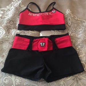 2 pc Hardcore workout outfit size s