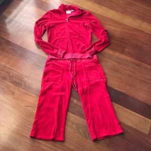 Juicy couture red terry outfit