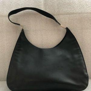 Genuine GUCCI Black Leather Hobo/Shoulder Bag