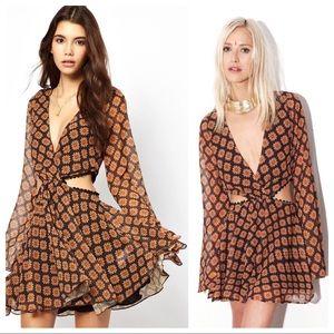 NWT For Love Lemons S Rare Sahara Cut Out Dress