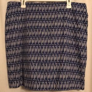 Ann Taylor—Blue and white Pencil Skirt—size 14