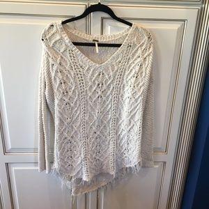 White Free People Boho Sweater