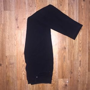 High waisted ultra stretch black uniqlo jeans