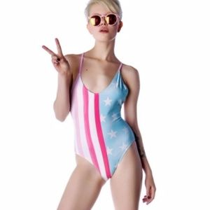 USA FLAG CLASSIC ONE PIECE SWIMSUIT