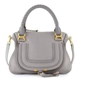 Chloe medium Marcie satchel grey women's bag