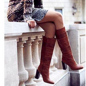 Jeffrey Campbell & Free People Cognac boots, sz 6