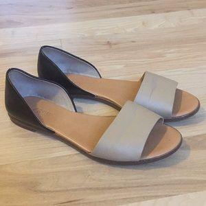 J Crew Black and Tan sandals
