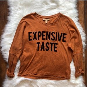 Zara expensive taste tee shirt size small
