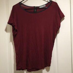 Zara burgundy Top