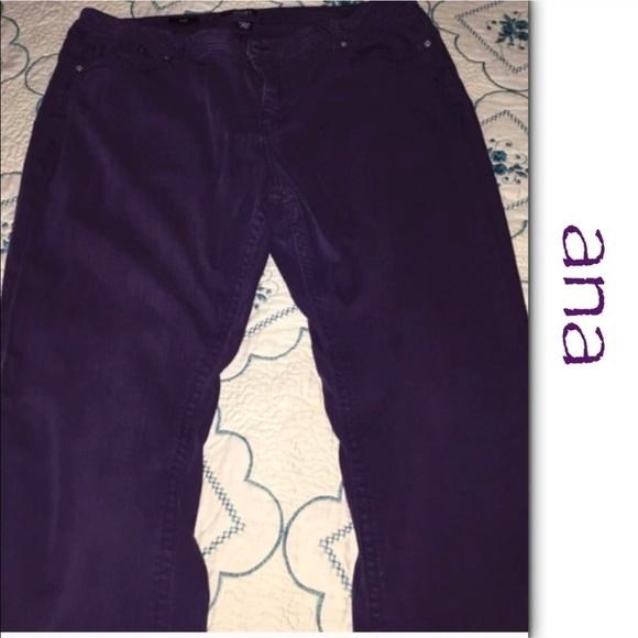 f198fb4243e19 a.n.a Denim - a.n.a. Skinny Jeans in Dark Plum