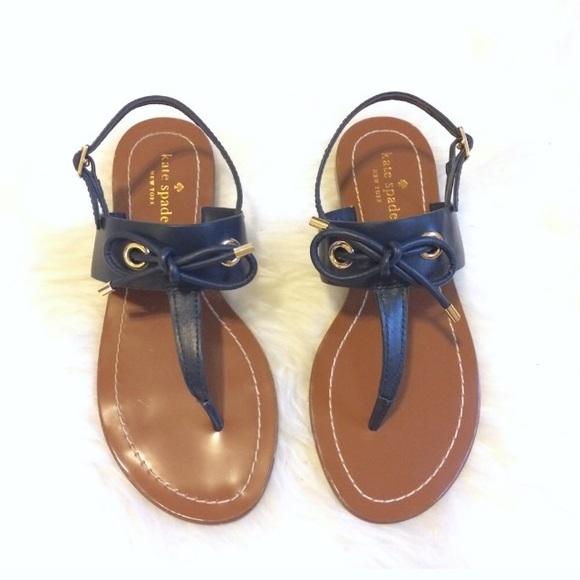 6f91e5706 Kate Spade Carolina 6.5 Thong Bow Sandals New