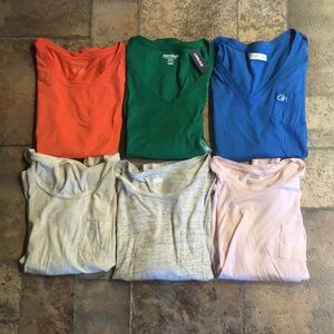 Lot of 6 casual tops, new with tags & barely worn