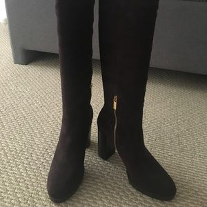 MICHAEL KORS Chocolate Brown Suede Boots, Size9