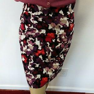 Ann Taylor multicolor skirt size 12P