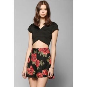 Rise print high waist Flowy Shorts