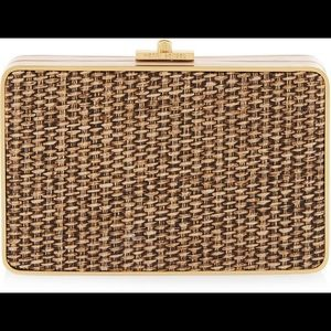 Henri Bendel straw party starter clutch