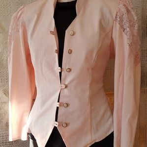 Vintage light pink corset blazer lace stunning
